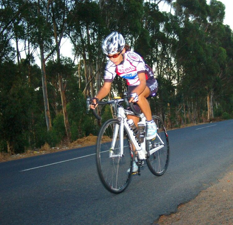 Early days riding for Toyota Cyclelab team in South Africa